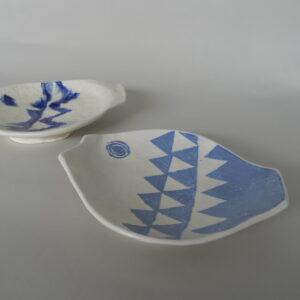 Slab plate & Coloured Slip Decoration