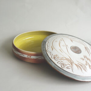 Janji Series - Large lidded Bowl with Silver