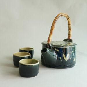 Daun Series: Teapot Set Green