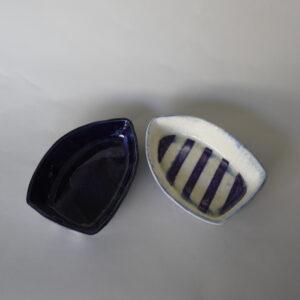 Boat series - Blue & Purple pair