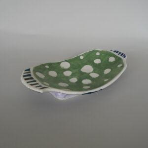 Polka Dot Green Plate